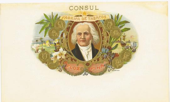 Cerebro consul original antique label art for Consul catalog