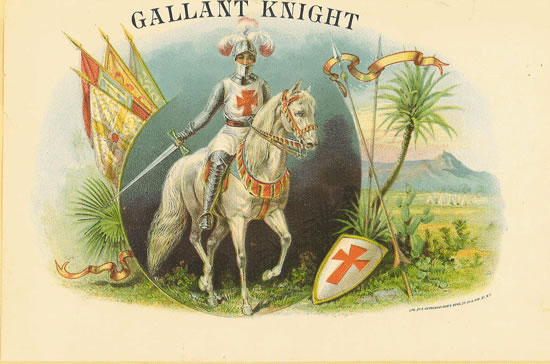 Cerebro | GALLANT KNIGHT | Original Antique Label Art