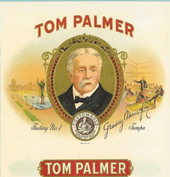 Cerebro Tom Palmer Original Antique Label Art