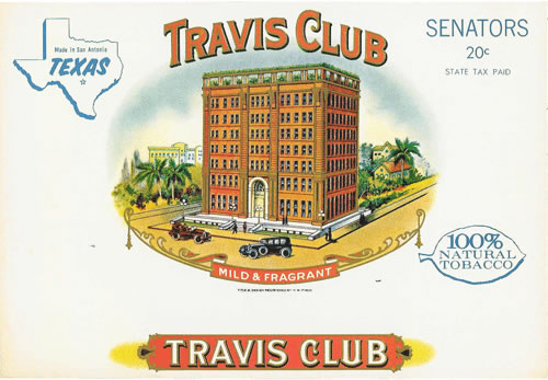 Cerebro Travis Club Original Antique Label Art