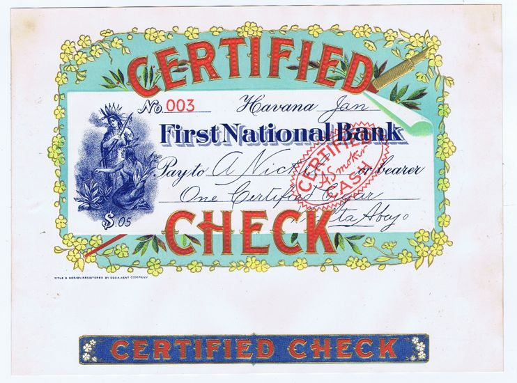 how to make a certified check