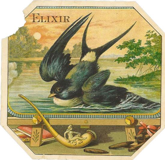 Original Antique Label Art