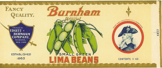 BURNHAM SMALL GREEN LIMA BEANS 11oz